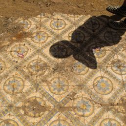Shadows and tiles in Marrakech