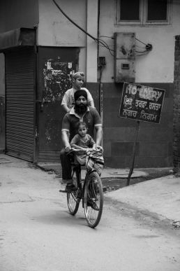 Sigh Family on a bike, Amritstar, India