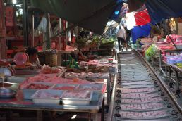 Mekong market in Bangkok, Thailand.