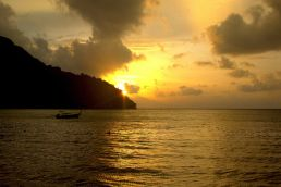 Sunset in Phi Phi Islands, Thailand.