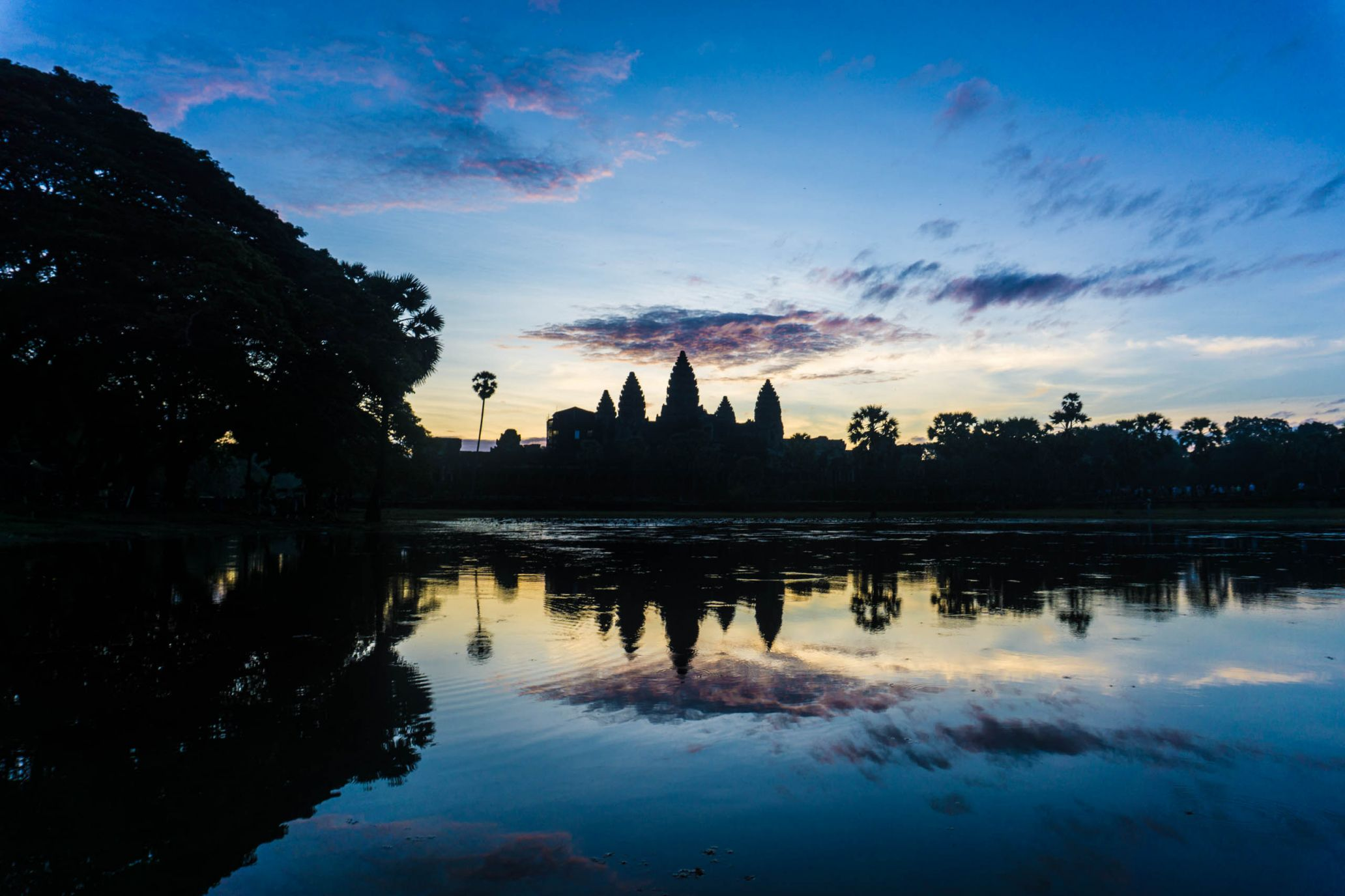 Sunrise at Angkor Wat, Cambodia.