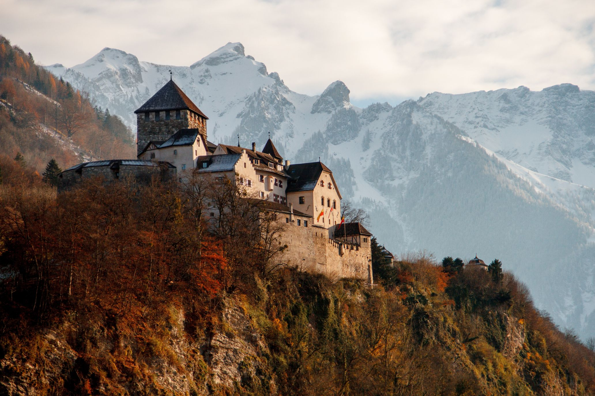 The castle of Vaduz in Liechtenstein
