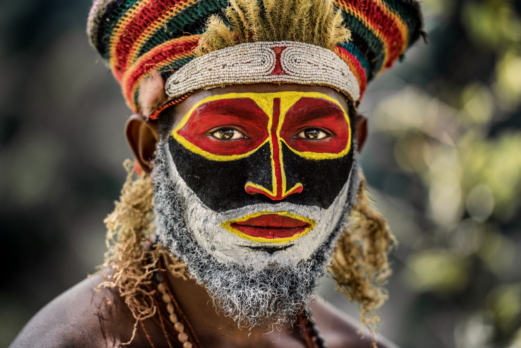 A tribeman in Papua New Guinea