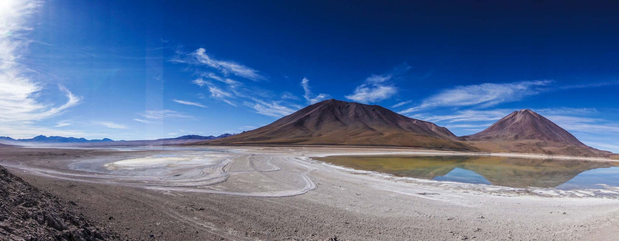 A volcano in a landscape in Bolivia, my last stop around the world